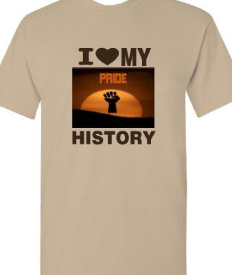 Tan I heart my history T-Shirt